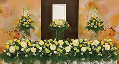 ファミリーホール湘南台、アレンジ祭壇・冬日光(タイプⅢ)154,000円